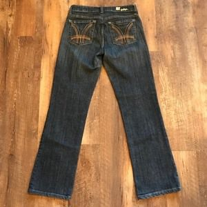Kut From The Kloth Dark Wash Baby Bootcut Jeans 6